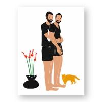 """זוג גברים מחובק - מתוך """"החיים יפים"""", הסדרה האופטימית"""