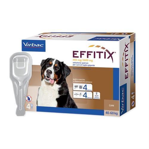 """אפיטיקס טיפות להדברת פרעושים וקרציות בכלבים 40-60 ק""""ג  Virbac Effitix"""