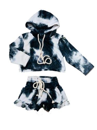 חליפת חצאית טאי דאי שחור לבן 2-16
