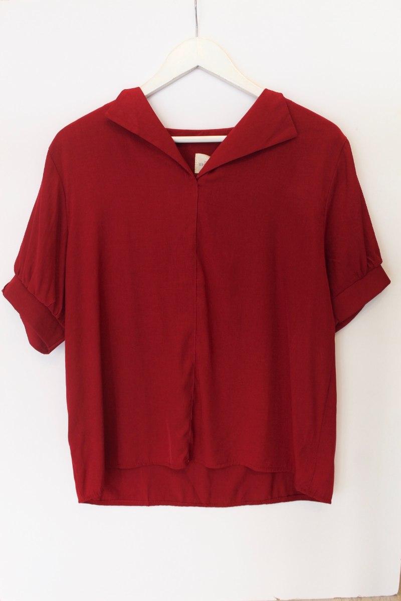 חולצת סיילור בורדו