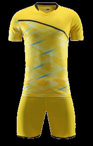 חליפת כדורגל צהוב פסים