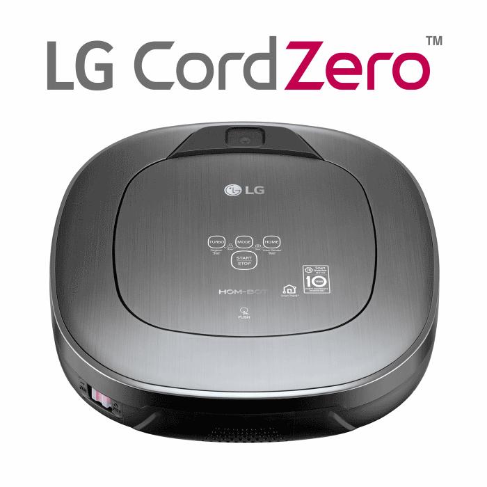 שואב אבק רובוט חכם HOM-BOT LG  עם חיבור WIFI ושליטה מרחוק דגם: VR-6480VMNC