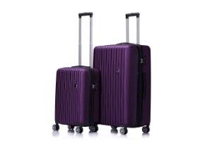 סט 3 מזוודות איכותיות  SWISS LUXE - צבע סגול