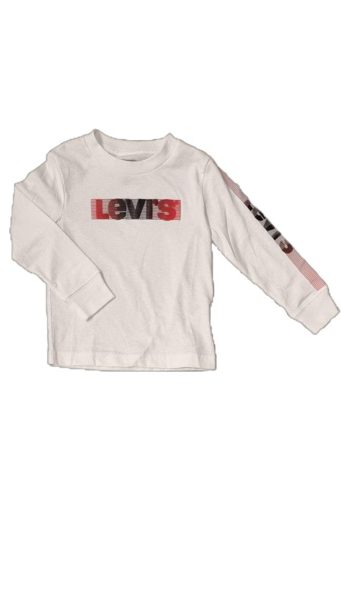 חולצת טישרט לבנה לוגו  אדום LEVIS (2-13)