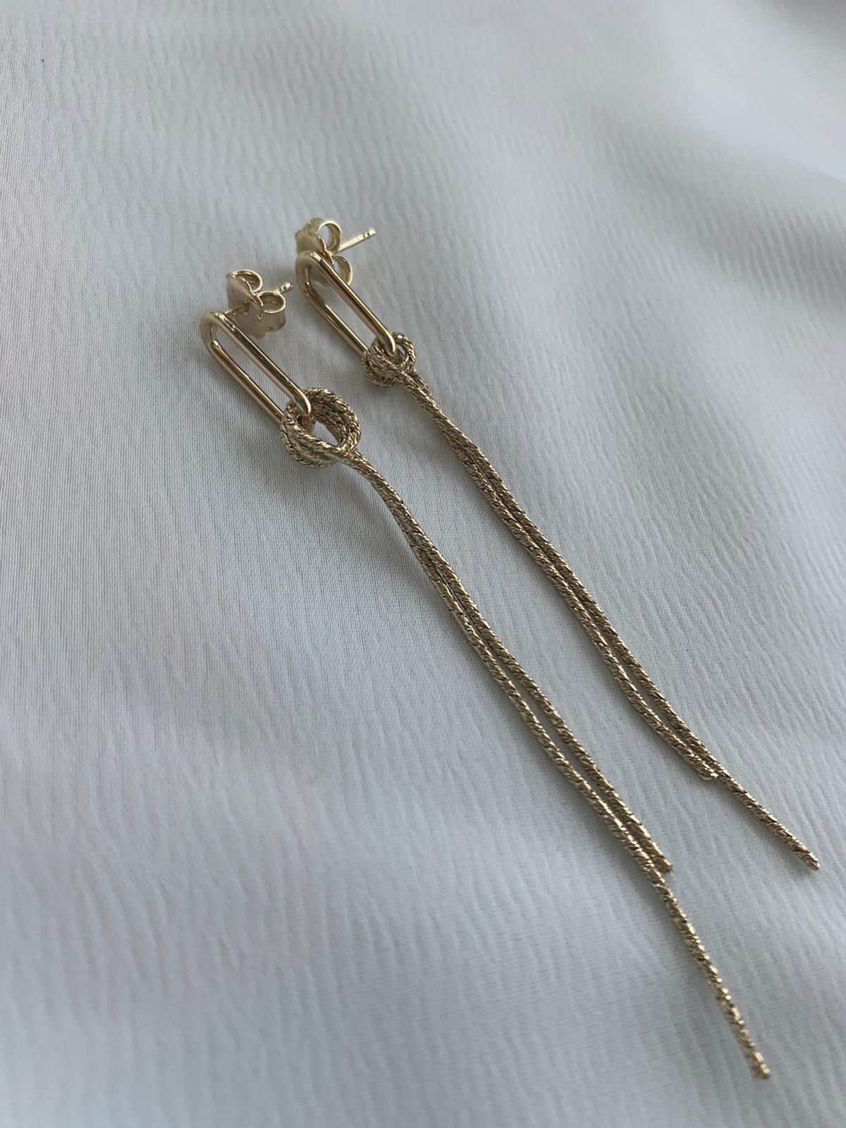 עגילי קריסטין זהב