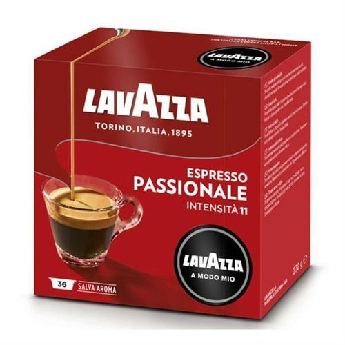36 קפסולות קפה LAVAZZA A MODO MIO אורגינל תערובת Passionale- אדום