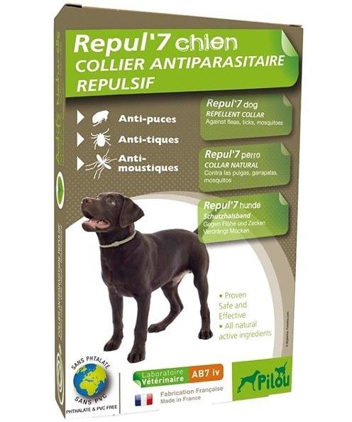 """קולר טבעי נגד פרעושים וקרציות לכלב עד 25 ק""""ג"""