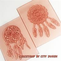 Indian Dream catcher set of 2 stamp