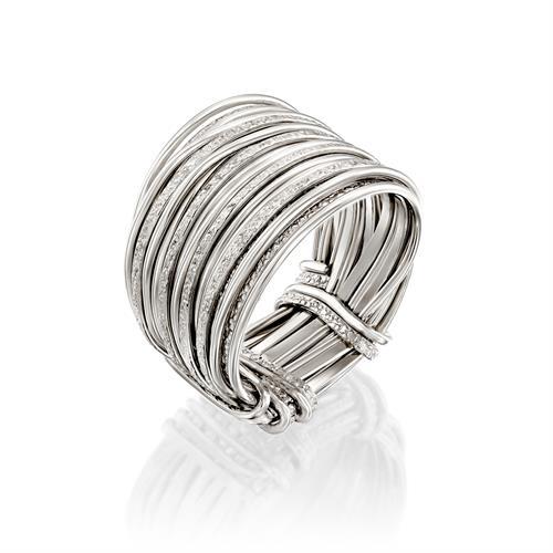 טבעת ספירלי חול לבן