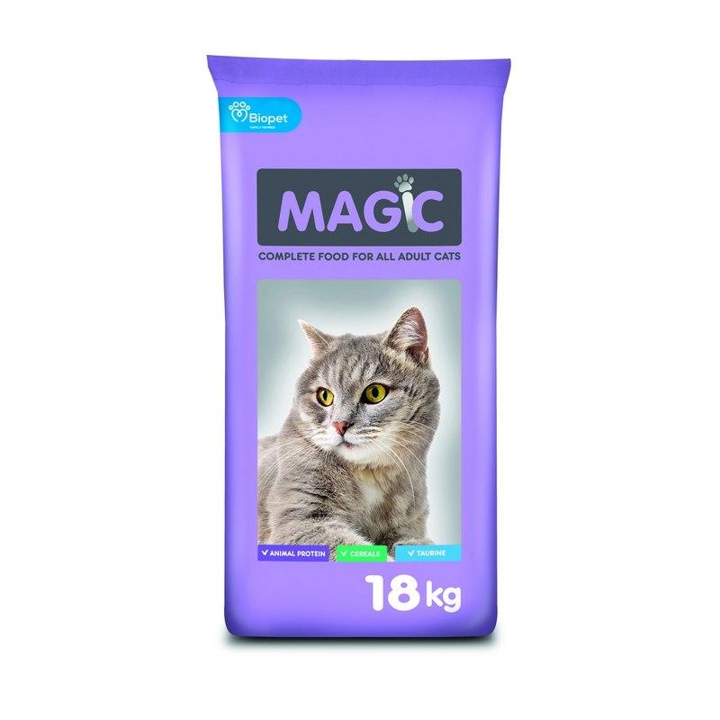 """מזון מג'יק 18 ק""""ג מומלץ לחתולי רחוב או חצר"""