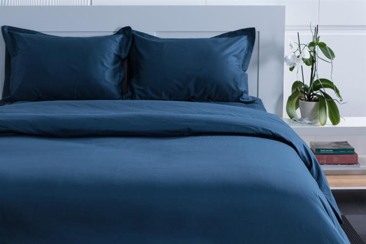 סט מלא זוגי כותנה מצרית צבע כחול