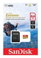 כרטיס זיכרון  Sandisk Extreme Micro SDXC 64GB SDSQXAF-064G V30-064G סנדיסק השני בהנחה