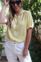 חולצת סיילור צהובה