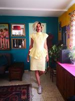 שמלת קוקטייל מכותנת ג'ינס מידה M