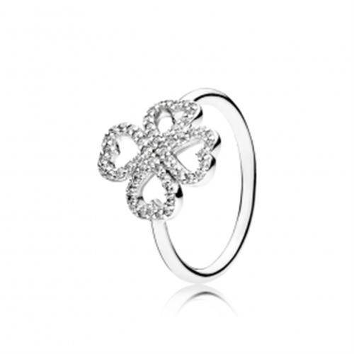 טבעת תלתן כסף