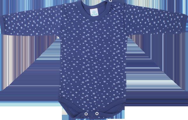 בגד גוף כחול כוכבים קטנים