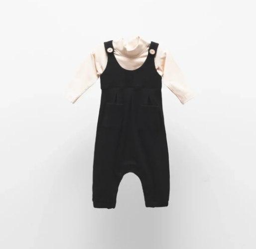 אוברול סרפן שחור בשילוב חולצה