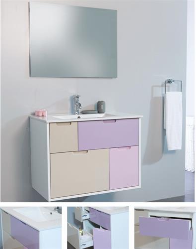 ארון אמבטיה תלוי 3 מגירות - דגם פאזל