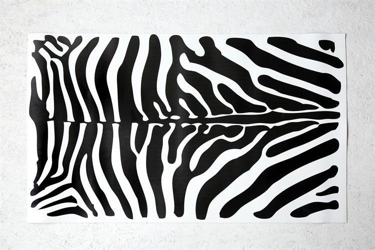 שטיח PVC דגם #5 - זברה רקע לבן