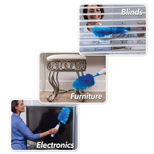 מברשת ניקיון נוצה + שואב אבק במכשיר אחד - סט חובה בכל דירה