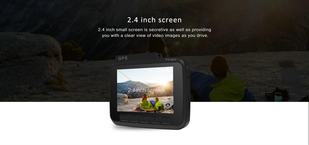 מצלמת דרך GS63H מקצועית 4K עם GPS מובנה WIFI וחיישן תנועה צילום גם בזמן חנייה ושידור לסמארטפון