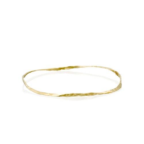 צמיד מרוקאי עדין מרוקע זהב 14 קרט