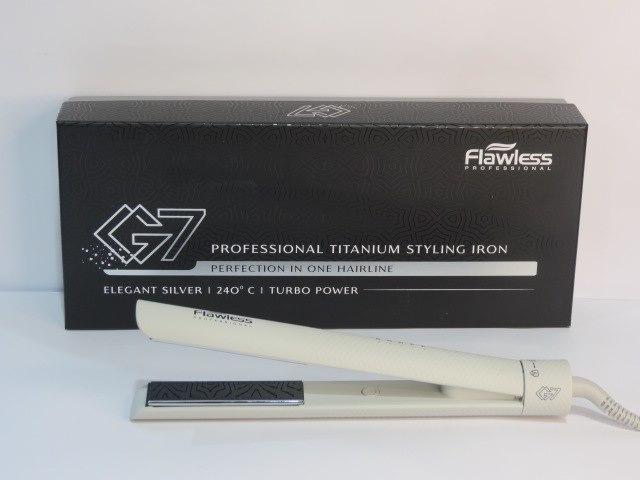 מחליק שיער טיטניום אפור  flawless G7