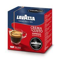 16 קפסולות קפה LAVAZZA A MODO MIO אורגינל תערובת Crema e Gusto- אדום-כחול