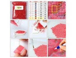 ערכת יצירה לילדים - שיבוץ אבנים לפי מספרים בלינגים