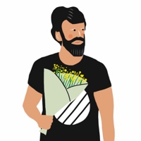 """גבר מחזיק זר פרחים - מתוך """"החיים יפים"""", הסדרה האופטימית"""
