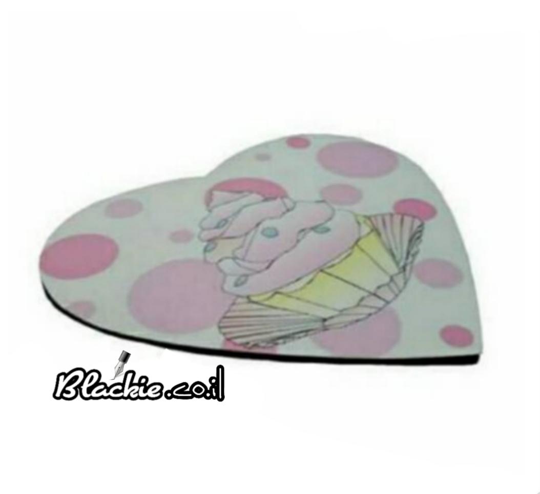 """משטח לב (לעכבר מחשב) קוקי קוקיס """"תותינקה"""""""
