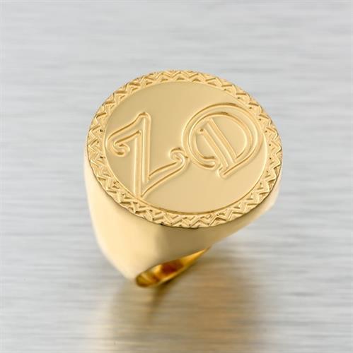 טבעת שם בעיצוב אישי גולדפילד 18 קראט איכותית