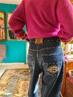 ג'ינס היפ הופ כחול מידה L/XL