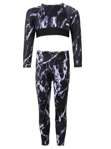 חליפת אקטיב טאי דאי 2-16 שחור לבן