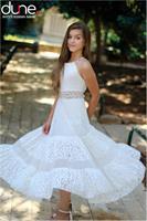 שמלת מקסי שילוב תחרה וגב איקסים