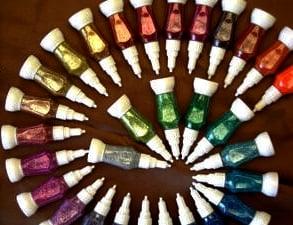 """נצנצים בבקבוק לחיץ 12 מ""""ל שלל צבעים"""