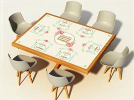 מפת שולחן פיויסי דקורטיבית מלבנית ל-שולחנות מעוצבים