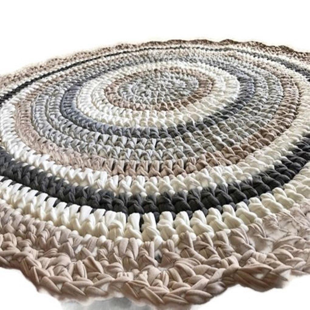 שטיח סרוג,עיצוב נורדי, שטיח לחדר הילדים, שטיח עגול, שטיחים, שטיח בעיצוב נורדי, עיצוב נורדי, שטיח עבודת יד, ריבי עיצובים