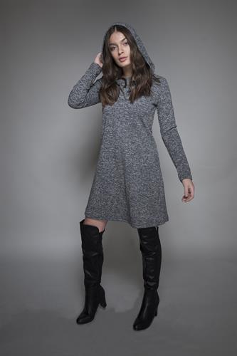 שמלה קפוצון אפור בהיר