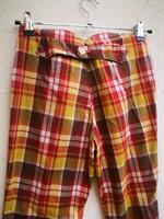 חליפת מכנס וחולצה משובצים  מידה S
