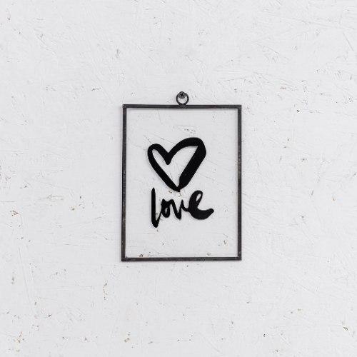 שלט זכוכית בינוני - LOVE