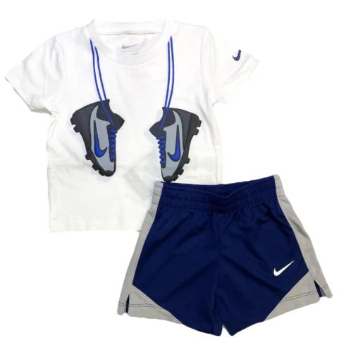 חליפת בנים NIKE לבן/כחול - 12 חודשים ועד 4 שנים