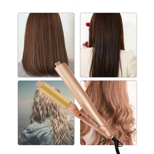 מחליק ומתלתל שיער 2 ב- 1