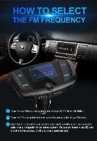 משדר fm מקצועי VICTSING  לרכב+דיבורית בלוטוס+טעינת ניידים