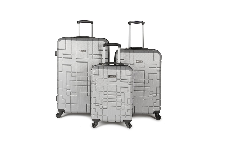 סט מזוודות איכותי AMERICAN EXPLORER- צבע כסוף