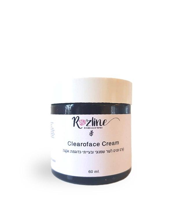 קרם פנים לעור שמן- מומלץ לאקנה- Clearoface Cream