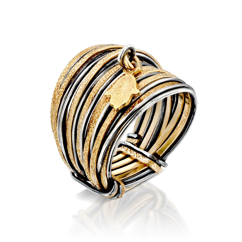 טבעת ספארי עם טיפת מזל