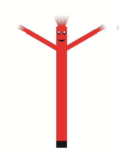 עותק של בובת דנסר רוקדת בגובה 6 מטר - צבע אדום