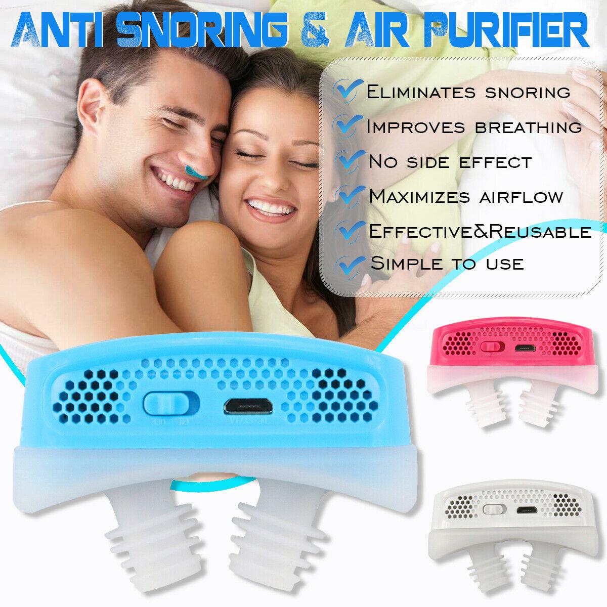 מיני  CPAP מכשיר נגד נחירות נגד דום נשימה בשינה