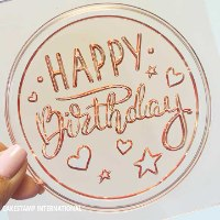 HAPPY BIRTHDAY EMBOSSER ROUND SHAPE Cake Topper  Mold | Flexible Polymer Mold | Chocolate Mold